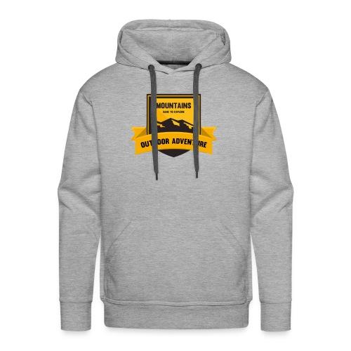 Mountains Dare to explore T-shirt - Men's Premium Hoodie