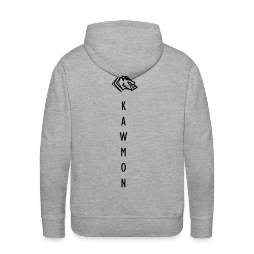 Kawmon Athleisure Gym Apparel Back Logo - Men's Premium Hoodie