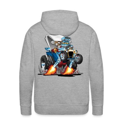 Custom T-bucket Roadster Hotrod Cartoon - Men's Premium Hoodie
