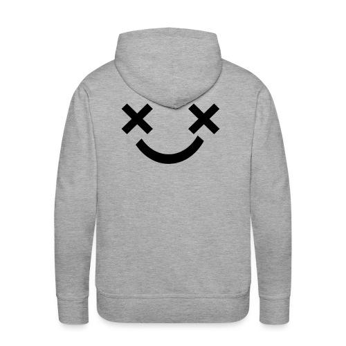 X Eyes Face Design - Men's Premium Hoodie