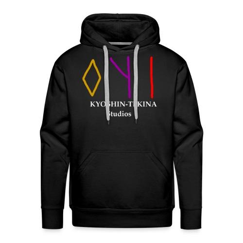 Kyoshin-Tekina Studios logo (white text) - Men's Premium Hoodie