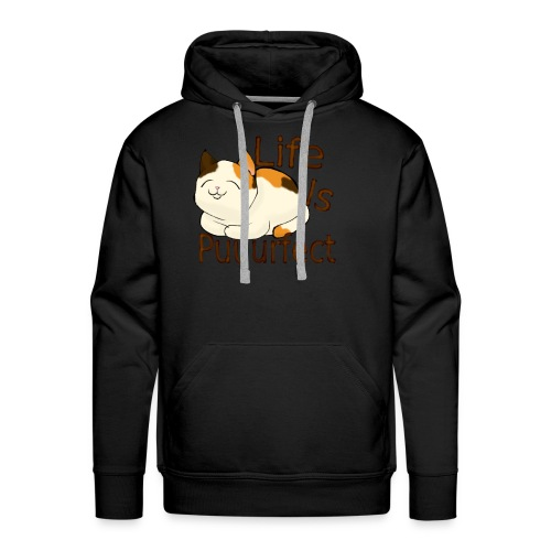 life is perfect when you're a cat - Men's Premium Hoodie