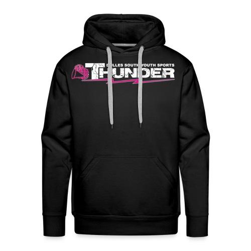 DSYS Cheer Logo Transparent White w/Pink - Men's Premium Hoodie