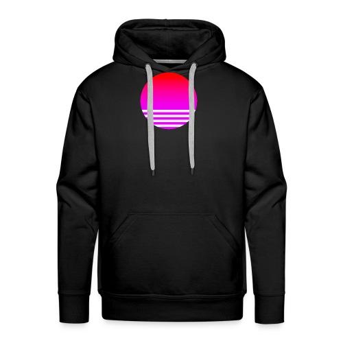 Vaporwave Sun - Men's Premium Hoodie