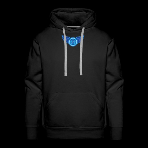 Winged Out Blue/White - Men's Premium Hoodie