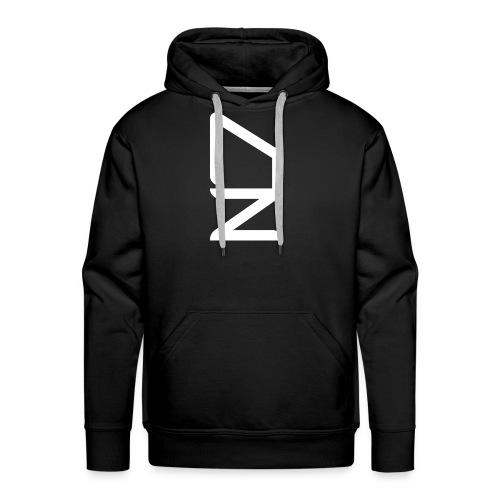 DZ logoWhite - Men's Premium Hoodie