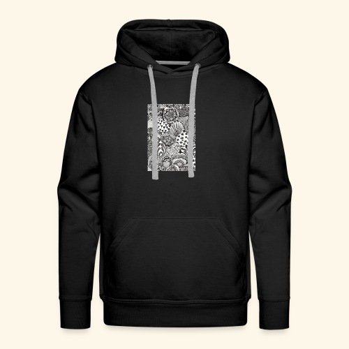 Black and white tigerprint - Men's Premium Hoodie