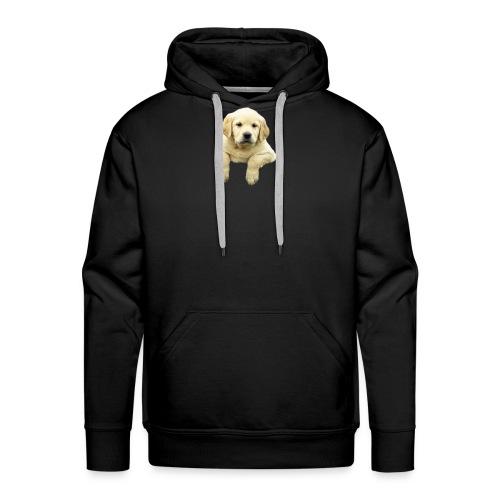 Labrador puppy climbing - Men's Premium Hoodie
