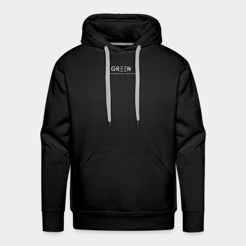 Green/Gorgeous reason evolving, ending never logo - Men's Premium Hoodie