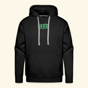 SEED Community Logotype - Green - Men's Premium Hoodie