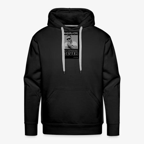 BOLDER STEEL PITTSBURGH 4EVER BLACK WHITE - Men's Premium Hoodie