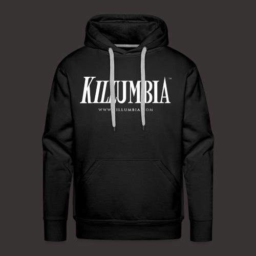 Killumbia Logo - White - Men's Premium Hoodie