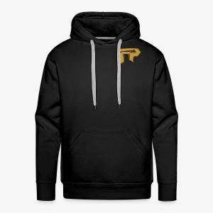 black/gold logo to side - Men's Premium Hoodie