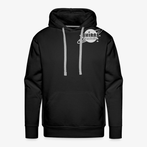 Shiras Planetarium Retro Logo in Grey - Men's Premium Hoodie