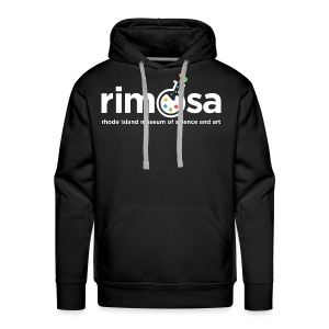 RIMOSA - White Logo w. Museum Full Name - Men's Premium Hoodie