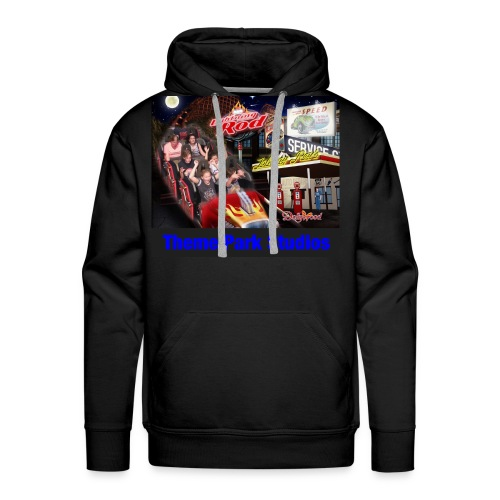 Themeparkstudios on lightning rod and lr pin - Men's Premium Hoodie