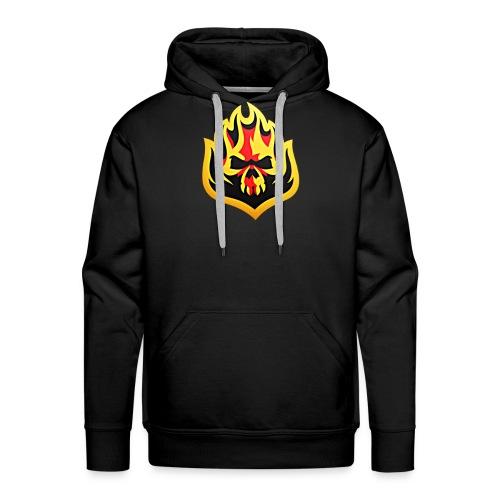 ListenTunes Fire Skull - Men's Premium Hoodie