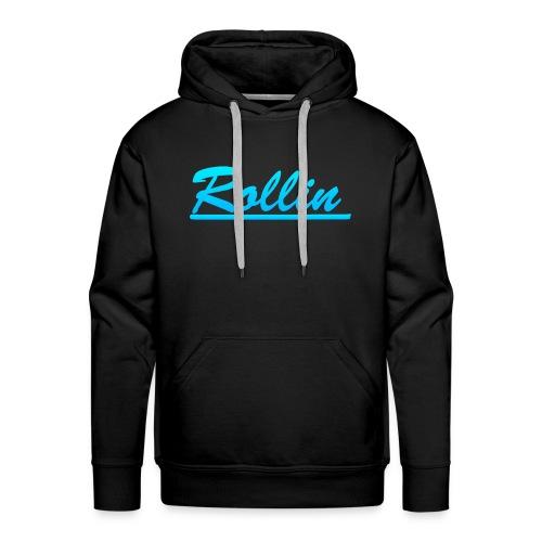 Rollin Logo Blue - Men's Premium Hoodie