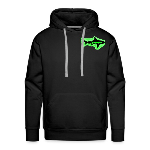 Green Glowing Barracuda Shark - Men's Premium Hoodie