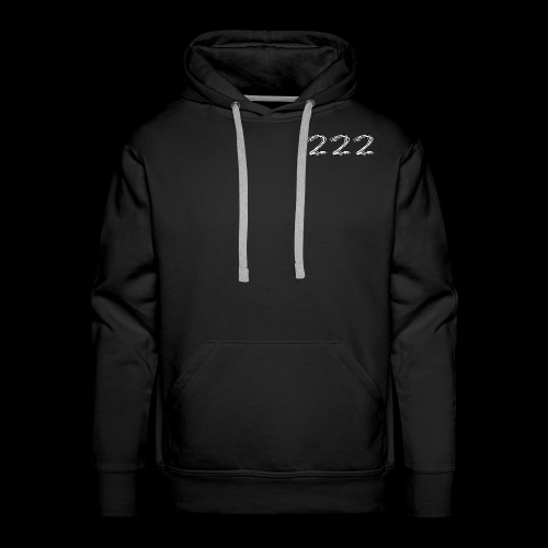222 Chalk Style Pocket Logo - Men's Premium Hoodie