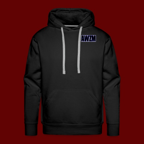 AWZM (Awesome Shortened) text design. - Men's Premium Hoodie