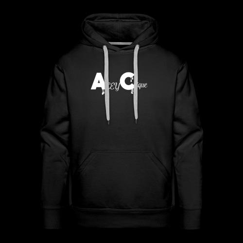 AceyClique White Logo - Men's Premium Hoodie