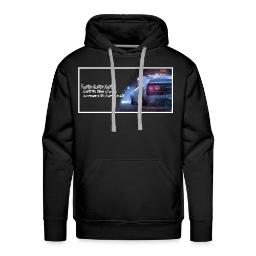 Skyline - Thrill of speed BLACK - Men's Premium Hoodie