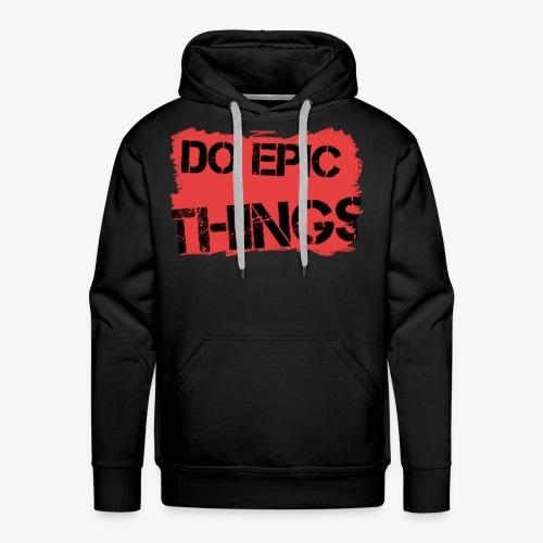 Litty crayola Do Epic Things Youtube Logo - Men's Premium Hoodie