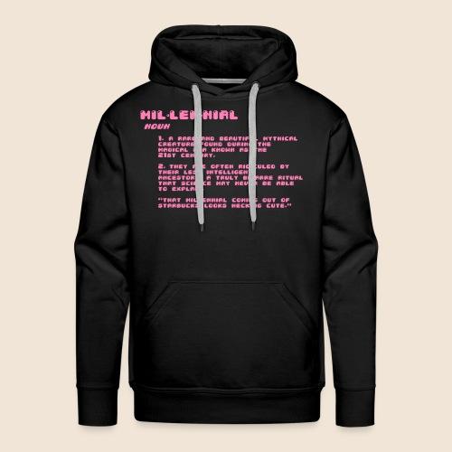Accurate Millennial Definition - Men's Premium Hoodie