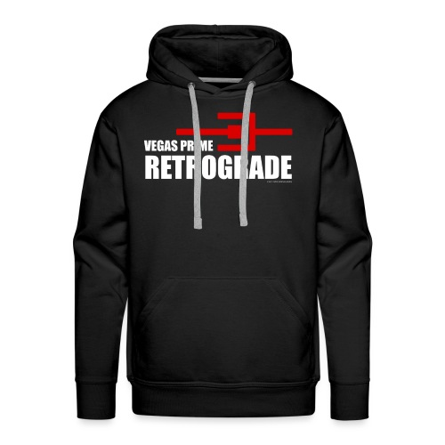 Vegas Prime Retrograde - Title and Hack Symbol - Men's Premium Hoodie