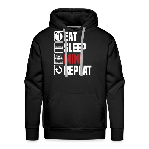 Eat Sleep Mini Funny - Men's Premium Hoodie