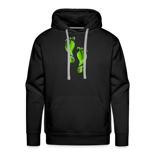 green carbon leaf footprint - Men's Premium Hoodie