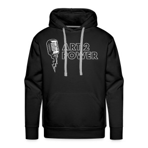 ART 2 POWER - white logo - Men's Premium Hoodie