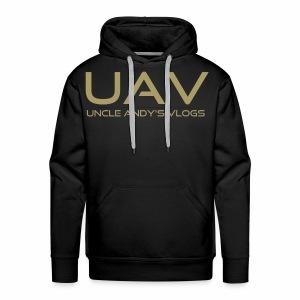 Uncle Andy's Vlogs Merch (gold) - Men's Premium Hoodie