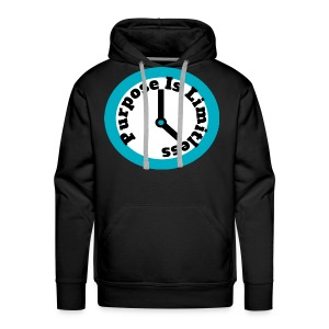 Clock limitless white - Men's Premium Hoodie
