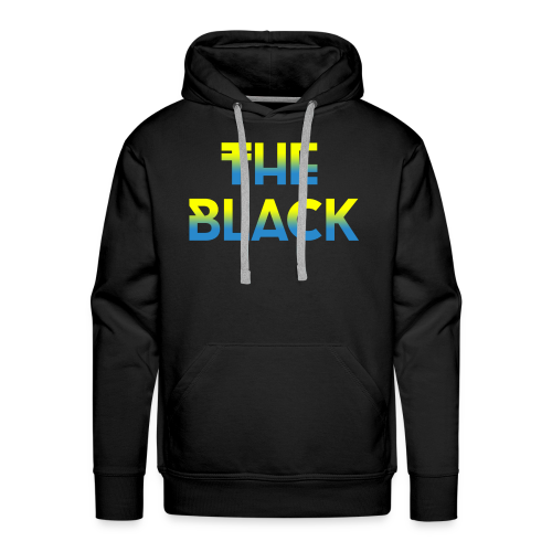 The Black Logo [Blue and Yellow] - Men's Premium Hoodie