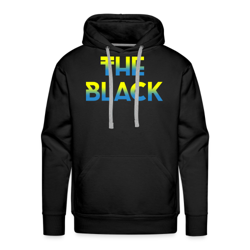 The Black Logo [Blue and Yellow] - Men's Premium Hoodie