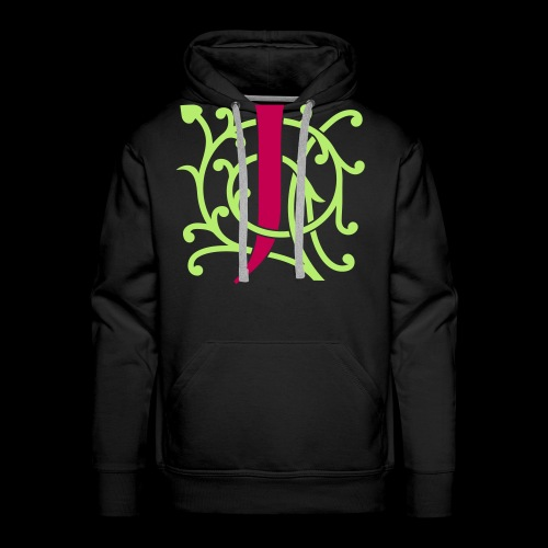 DIY FlexColor™ Monogram J • A4-2 – 2 Colors - Men's Premium Hoodie