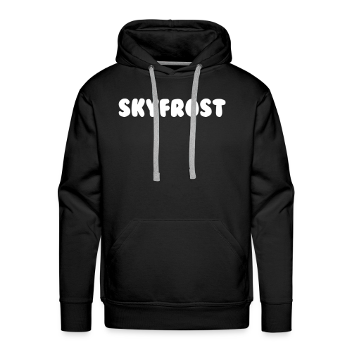 SkyFrost White Text - Men's Premium Hoodie