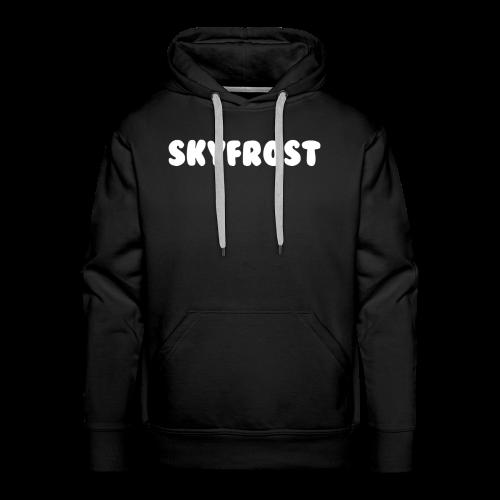 SkyFrost White Text - Men's Premium Hoodie