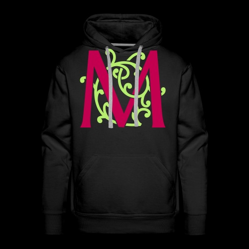 DIY FlexColor™ Monogram M • A4-2 – 2 Colors - Men's Premium Hoodie
