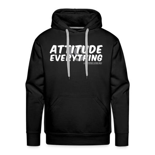 AIE Attitude Overlay White - Men's Premium Hoodie