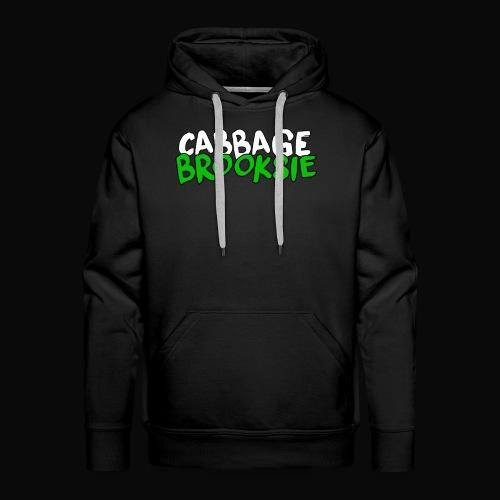 cabbagebrooksie logo v2 - Men's Premium Hoodie