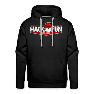 HACK4FUN WHITE - Men's Premium Hoodie