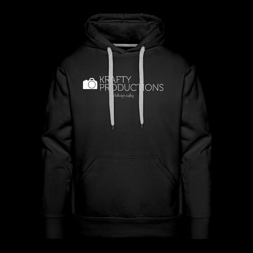 White Krafty Productions Logo - Men's Premium Hoodie