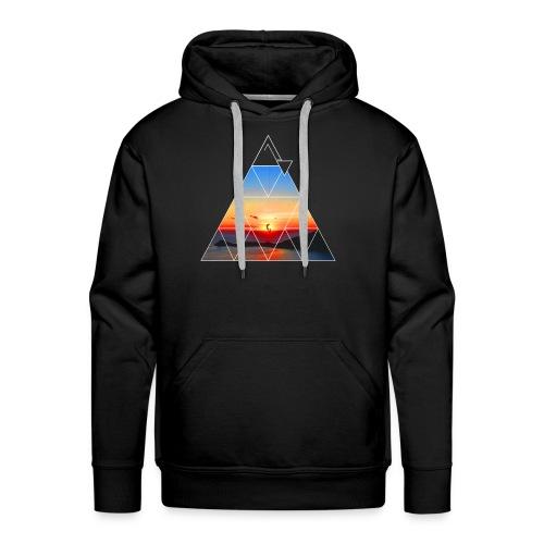 Climber in the sunset - Men's Premium Hoodie