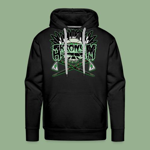 Akronym Skull and Logo - Men's Premium Hoodie