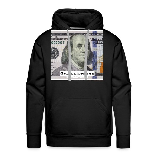 GAZILLIONAIRE with BENJAMIN FRANKLIN - Men's Premium Hoodie