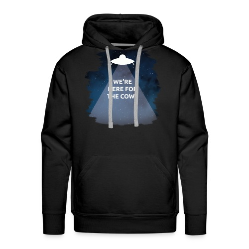 We're Here for the Cows - Men's Premium Hoodie