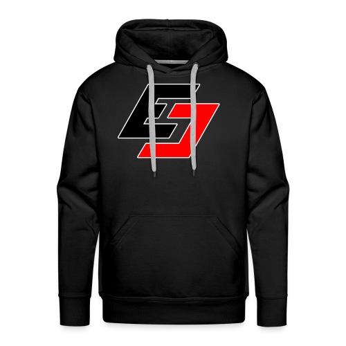 EavesDrop ED logo (Red + Black) - Men's Premium Hoodie